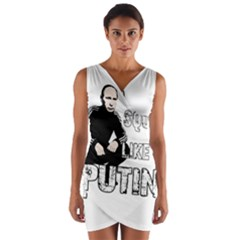 Squat Like Putin Wrap Front Bodycon Dress
