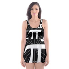 Pi Day Skater Dress Swimsuit