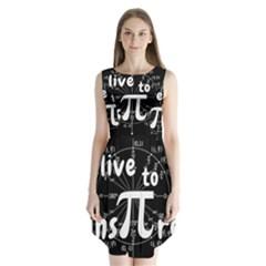 Pi Day Sleeveless Chiffon Dress