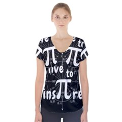 Pi Day Short Sleeve Front Detail Top