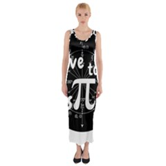 Pi Day Fitted Maxi Dress