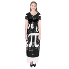 Pi Day Short Sleeve Maxi Dress