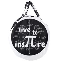 Pi Day Giant Round Zipper Tote