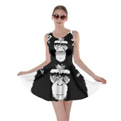 Stop Animal Abuse   Chimpanzee  Skater Dress