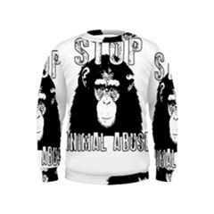 Stop Animal Abuse   Chimpanzee  Kids  Sweatshirt