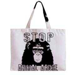 Stop Animal Abuse   Chimpanzee  Zipper Mini Tote Bag