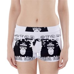 Stop Animal Abuse   Chimpanzee  Boyleg Bikini Wrap Bottoms