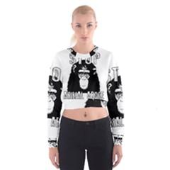 Stop Animal Abuse   Chimpanzee  Cropped Sweatshirt