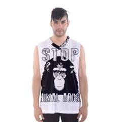 Stop Animal Abuse   Chimpanzee  Men s Basketball Tank Top