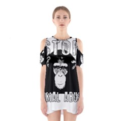 Stop Animal Abuse   Chimpanzee  Shoulder Cutout One Piece