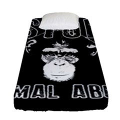 Stop Animal Abuse   Chimpanzee  Fitted Sheet (single Size)