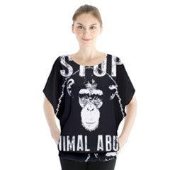 Stop Animal Abuse   Chimpanzee  Blouse