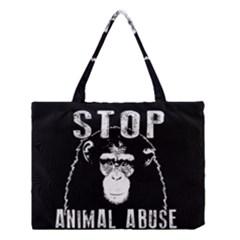 Stop Animal Abuse   Chimpanzee  Medium Tote Bag