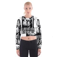 Animal Liberation Front   Chimpanzee  Cropped Sweatshirt