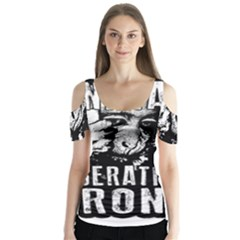 Animal Liberation Front   Chimpanzee  Butterfly Sleeve Cutout Tee