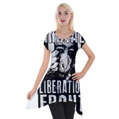Animal Liberation Front   Chimpanzee  Short Sleeve Side Drop Tunic