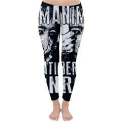 Animal Liberation Front   Chimpanzee  Classic Winter Leggings