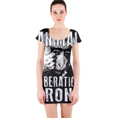 Animal Liberation Front   Chimpanzee  Short Sleeve Bodycon Dress