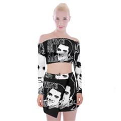 Elvis Presley Off Shoulder Top With Mini Skirt Set