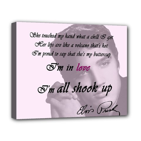 Elvis Presley   All Shook Up Deluxe Canvas 20  X 16