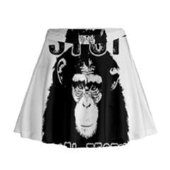 Stop Animal Testing   Chimpanzee  Mini Flare Skirt