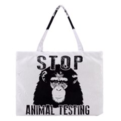 Stop Animal Testing   Chimpanzee  Medium Tote Bag