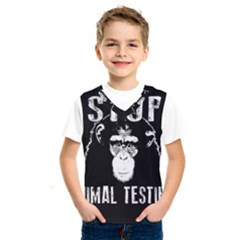 Stop Animal Testing   Chimpanzee  Kids  Sportswear