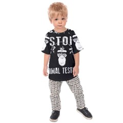 Stop Animal Testing   Chimpanzee  Kids Raglan Tee