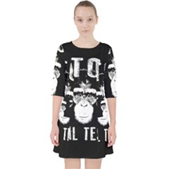 Stop Animal Testing   Chimpanzee  Pocket Dress