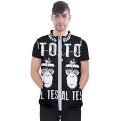 Stop Animal Testing   Chimpanzee  Men s Puffer Vest