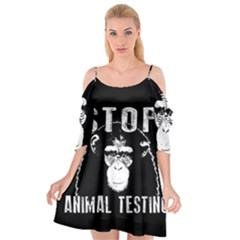 Stop Animal Testing   Chimpanzee  Cutout Spaghetti Strap Chiffon Dress