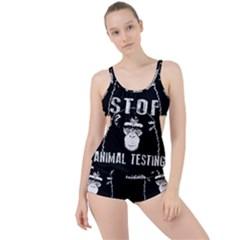 Stop Animal Testing   Chimpanzee  Boyleg Tankini Set