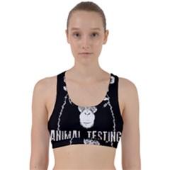 Stop Animal Testing   Chimpanzee  Back Weave Sports Bra