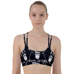 Stop Animal Testing   Chimpanzee  Line Them Up Sports Bra