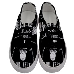 Stop Animal Testing   Chimpanzee  Men s Classic Low Top Sneakers