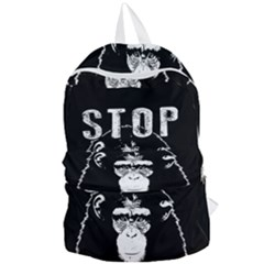 Stop Animal Testing   Chimpanzee  Foldable Lightweight Backpack