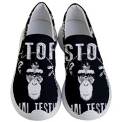 Stop Animal Testing   Chimpanzee  Women s Lightweight Slip Ons