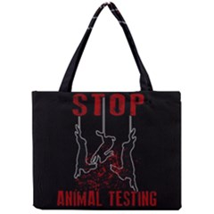 Stop Animal Testing   Rabbits  Mini Tote Bag