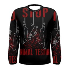 Stop Animal Testing   Rabbits  Men s Long Sleeve Tee