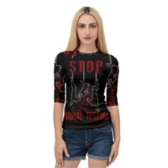 Stop Animal Testing   Rabbits  Quarter Sleeve Raglan Tee