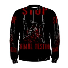 Stop Animal Testing   Rabbits  Men s Sweatshirt