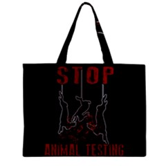 Stop Animal Testing   Rabbits  Zipper Mini Tote Bag