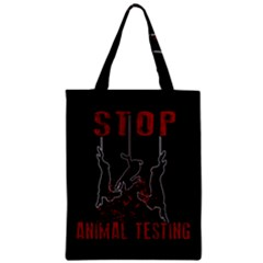 Stop Animal Testing   Rabbits  Zipper Classic Tote Bag