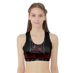 Stop Animal Testing   Rabbits  Sports Bra With Border