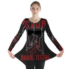 Stop Animal Testing   Rabbits  Long Sleeve Tunic