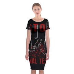 Stop Animal Testing   Rabbits  Classic Short Sleeve Midi Dress