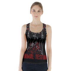 Stop Animal Testing   Rabbits  Racer Back Sports Top