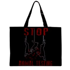 Stop Animal Testing   Rabbits  Zipper Medium Tote Bag