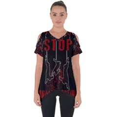 Stop Animal Testing   Rabbits  Cut Out Side Drop Tee