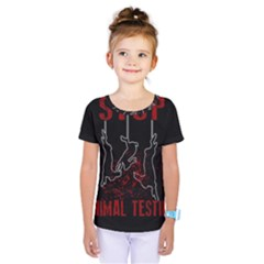 Stop Animal Testing   Rabbits  Kids  One Piece Tee